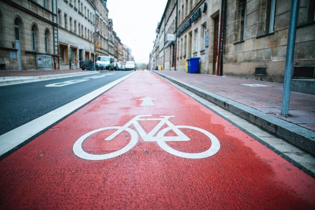 Linjemålning Cykelbana